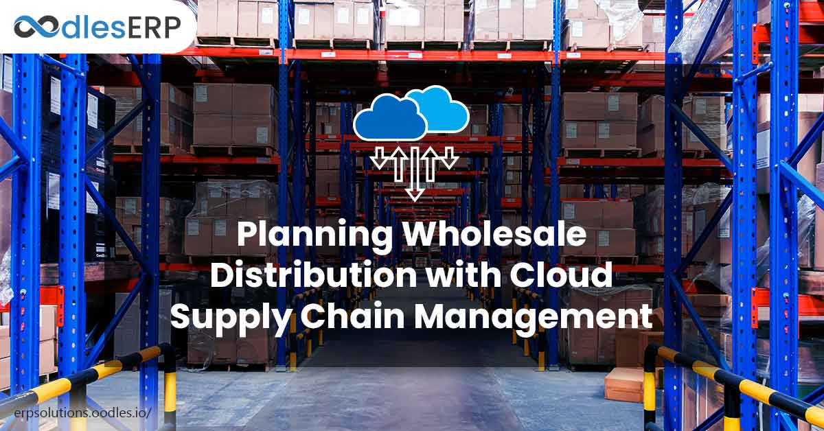 Wholesale Distribution with Cloud Supply Chain Management